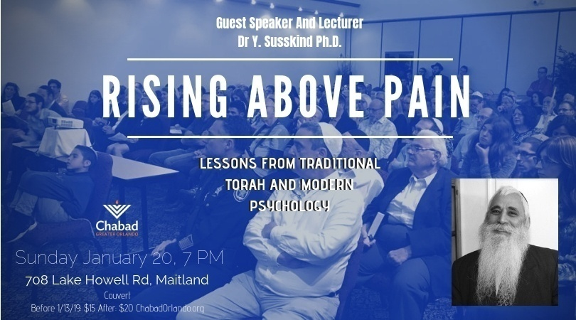 Rising above Pain in our Lives - Jewish Federation of Greater Orlando